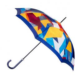 Parapluie Cubisme Bleu droit ville