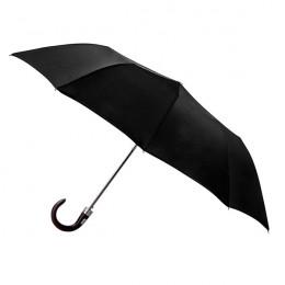 Parapluie Homme Uni Noir pliant médium automatique 10 baleines