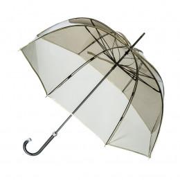 Parapluie Transparent fumé bordé doré