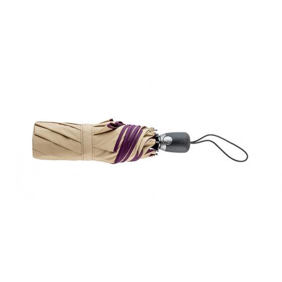Parapluie Pliant Beige Finition prune