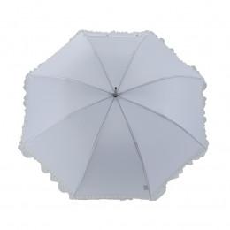 Ombrelle blanche avec finition froufrou dentelle blanc