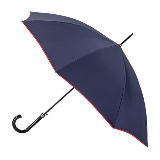 Parapluie Femme canne Marine finition Rouge