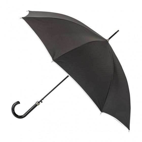 Parapluie Femme Canne Noir Finition Blanche