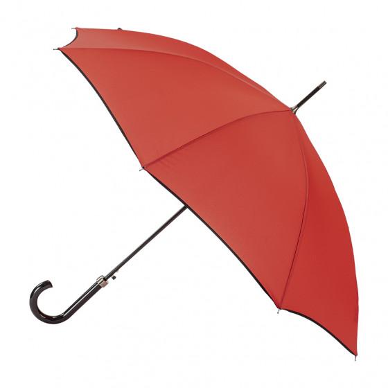 Parapluie Femme Canne Rouge Finition Noire