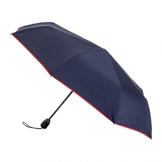 Parapluie Femme Pliant Marine finition Rouge