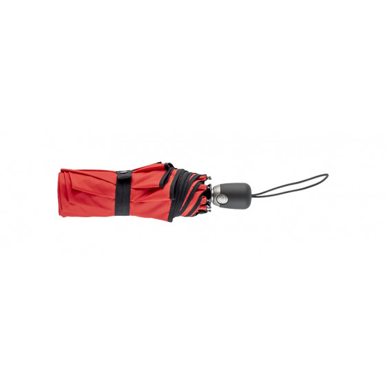 Parapluie Femme Pliant Rouge finition Noire